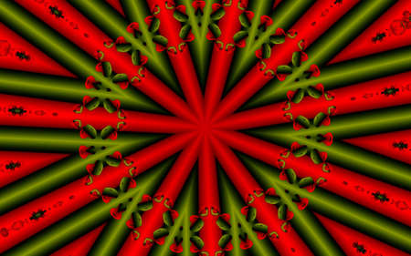 absract background with the lines and hearts in christmas time colours  Stock Photo - 6395362