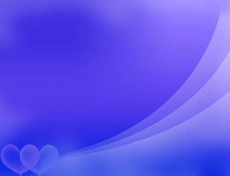 blue abstract background with heart photo