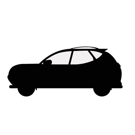 Car. Silhouette. Icon. Sketch. Symbol Sign Stock Vector Illustration Transparent White Isolated Иллюстрация