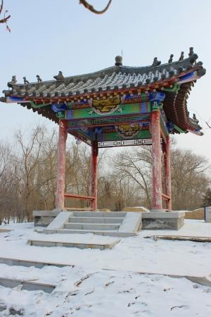 The snow classical pavilion building
