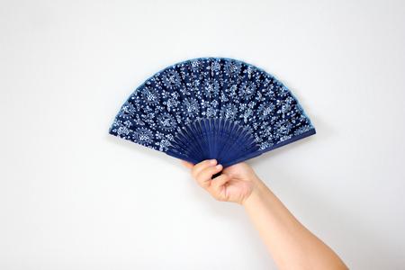 folding fan,hand Stock Photo