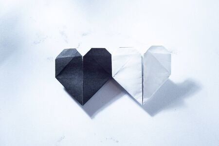 Black and White, White and Black Hearts. Peace.