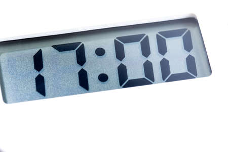 Digital clock, digital timer, 17:00, 17:00, 17:00, 17 minutes