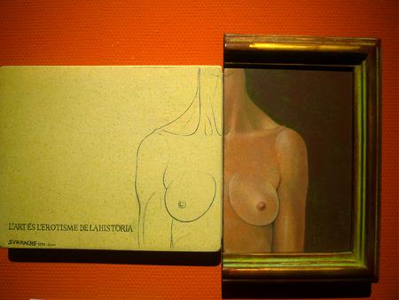 master: Bust sculpture, master Subirachs works Editorial