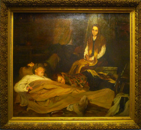 periodicals: Hubei Provincial Museum paintings, Russia oil painting of the mother in 1945.