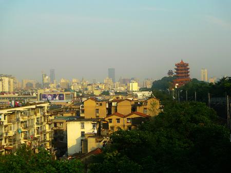 wuhan: Yellow crane Tower, Wuhan Street Editorial