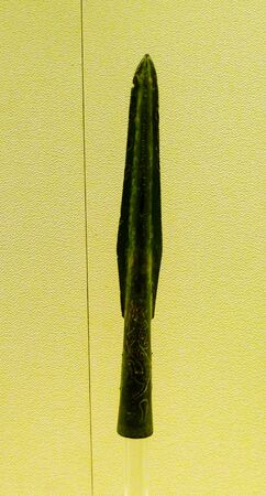 the local characteristics: This Spear is a short bone, like willow, with Sichuan local characteristics, warring States period 475 BC-221 BC weapons.
