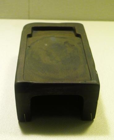 inkstone: Wonton clay inkstone Song dynasty 960-1279 AD room. Editorial