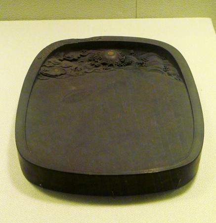 inkstone: ancient inkstone, Qing dynasty 1644-1911. Editorial