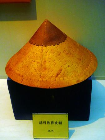 birch bark: Hezhe birch bark hat