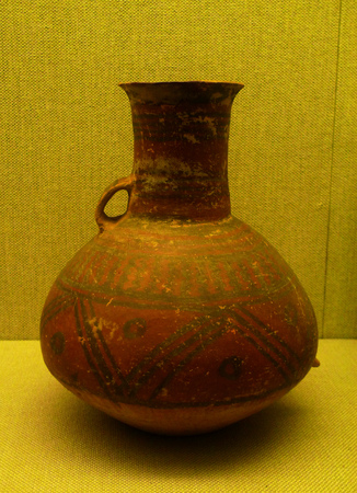 literary: Wuhan Municipal Museum of literary embellishment jug majiayao culture of the Neolithic age