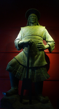 wuhan: Qingchuan Pavilion in Wuhan City, Hubei Province, Yu the great statue