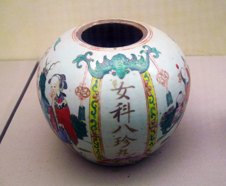 Female treasures pill jar in Qing dynasty Editorial