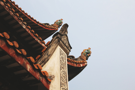 Low angle view of a traditional Chinese building Banque d'images - 107139982