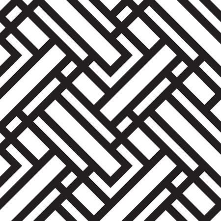 abstrakte muster: Vektor nahtlose Muster, Schwarz-Weiß-geometrischen Hintergrund.