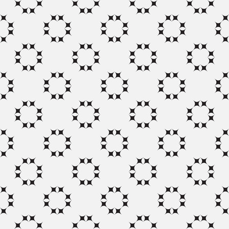 fabric art: Black and white vector seamless pattern. Abstract background