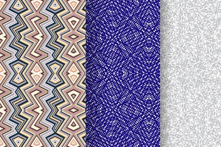 Set di 3 modelli astratti. Sfondi di colore senza soluzione di continuità. Archivio Fotografico - 48149870