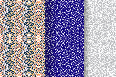 seamless: Set of 3 Abstract patterns. Color seamless backgrounds.