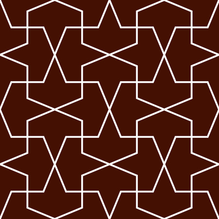 Gometric ornamental pattern. Traditional Arabic seamless ornament. Abstract background Illustration