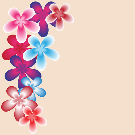 corner design: Vector abstract background, Floral decorative border corner pattern for card design