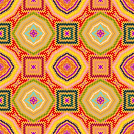 seamless pattern, abstract geometric background illustration, fabric textile illustration Vector Illustration