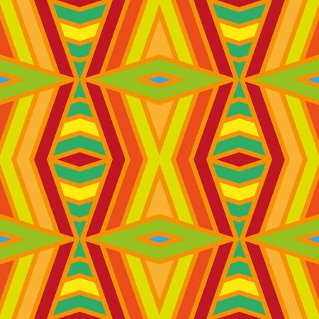 Geometric rainbow seamless pattern. Simple regular color spectrum background. Vector illustration Illustration