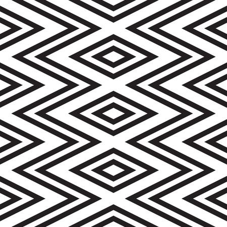 Schwarz-Weiß-geometrische nahtlose Muster. Einfache regelmäßige Hintergrund. Vektor-Illustration