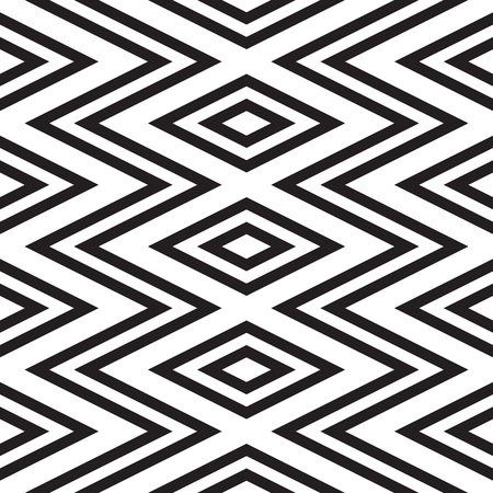 Black and white geometric seamless pattern. Simple regular background. Vector illustration Illustration