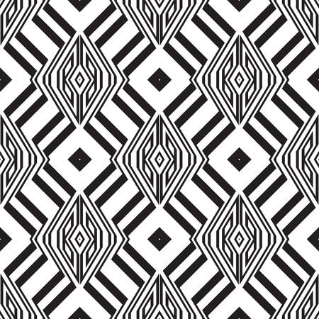 braided: Black and white geometric seamless pattern. Simple regular background. Vector illustration Illustration