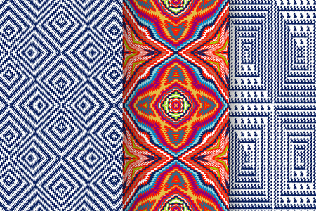 Set of 3 Abstract patterns Illustration