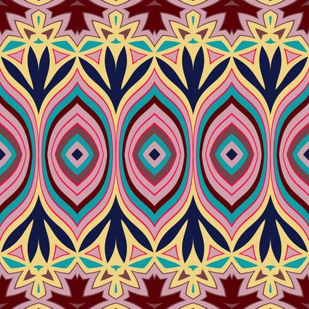 Tribal geometric vector pattern. Seamless ethnic background Ilustracja