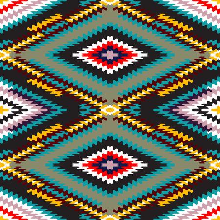 Geometric rainbow seamless pattern. Simple regular color spectrum background. 스톡 콘텐츠 - 122191491