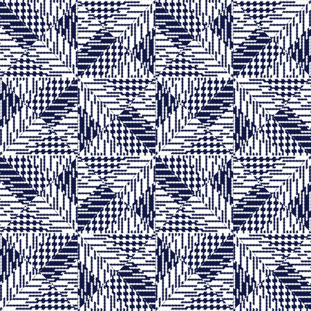 Vector seamless pattern, abstract geometric background illustration