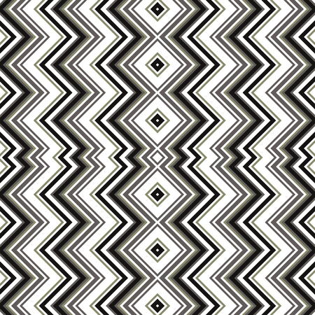 Vector seamless pattern. Black and white geometric strip pattern.