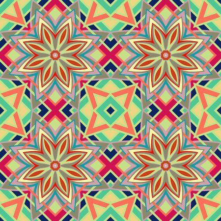 Vector seamless pattern. Tribal geometric vector pattern.