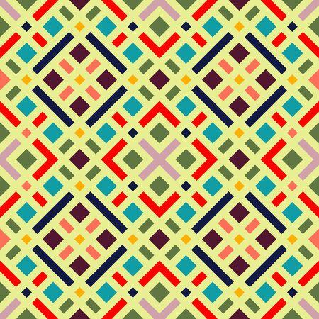 Geometric rainbow seamless pattern. Simple regular color spectrum background.