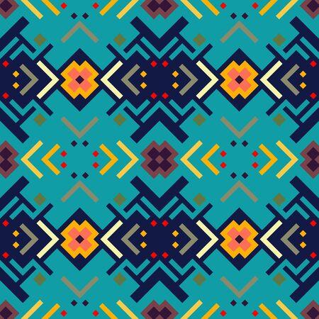 Vector seamless pattern. Geometric rainbow seamless illustration