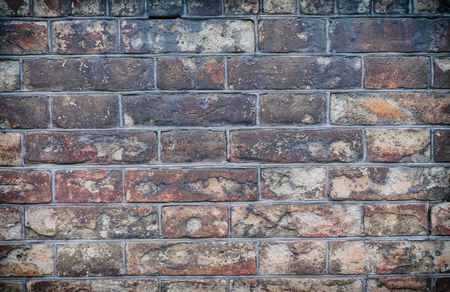 banging: Old vintage brick walls of the old red clay bricks