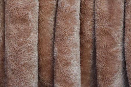 beige: fleecy fabric texture beige wrinkled