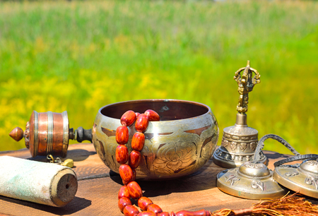Religious Asian subjects for alternative medicine and meditation, a practitioner in yoga