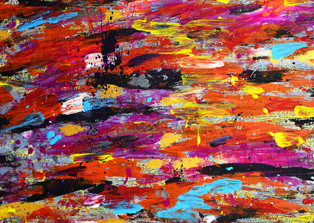 smudge: abstract background with colorful strokes of acrylic paint