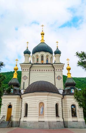 Foros Church in Crimea Ukraine on a summer day