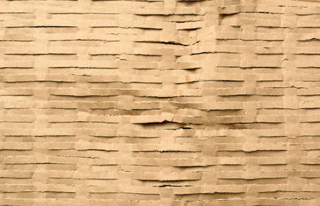 texture of sliced brown kraft paper strips, full frame Фото со стока