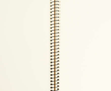open spiral notebook with blank white sheets, copy space