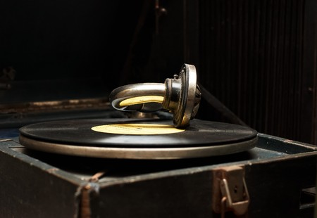rarity: Old rarity gramophone with record