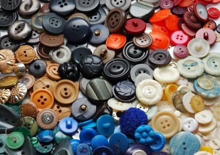 Vintage ropa botones Foto de archivo - 4336943