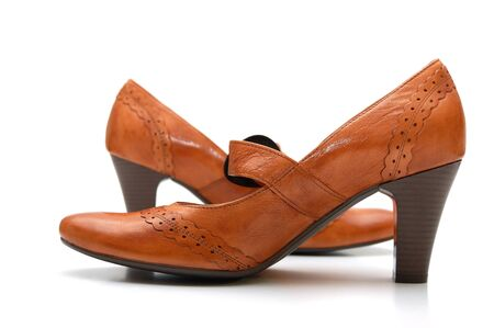 leather woman: Pair of leather woman shoes