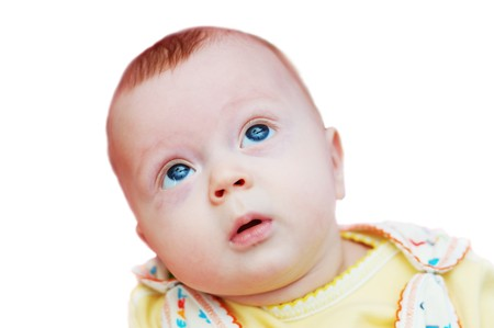 Small baby boy (4 month old) looking up Stock Photo - 4410983