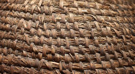 inmejorablemente: Vintage tejido cesta. Lo ideal ser�a como fondo Foto de archivo