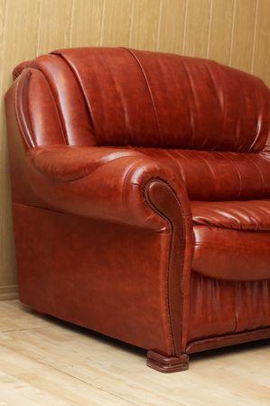 divan: Nueva sof� de cuero en el vest�bulo
